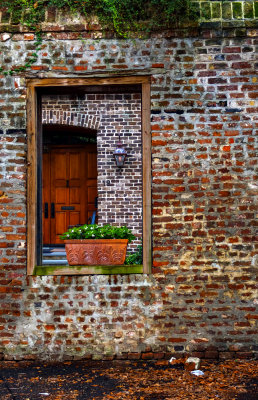 Symmetry in the ruins, Charleston, South Carolina, 2013