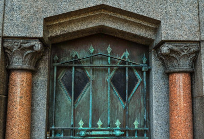 Copper and stone, Green-Wood Cemetery, Brooklyn, New York, 2013