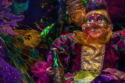 Mardi Gras display, New Orleans, Louisiana, 2014