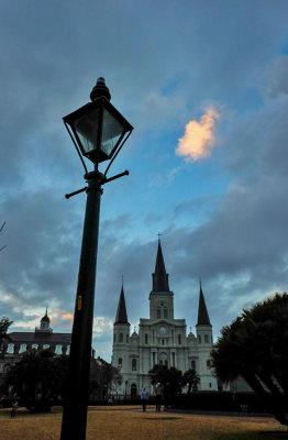 Twilight, Jackson Square, New Orleans, Louisiana, 2014