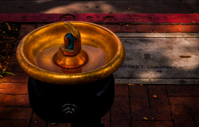 Drinking fountain, Santa Barbara, California, 2014