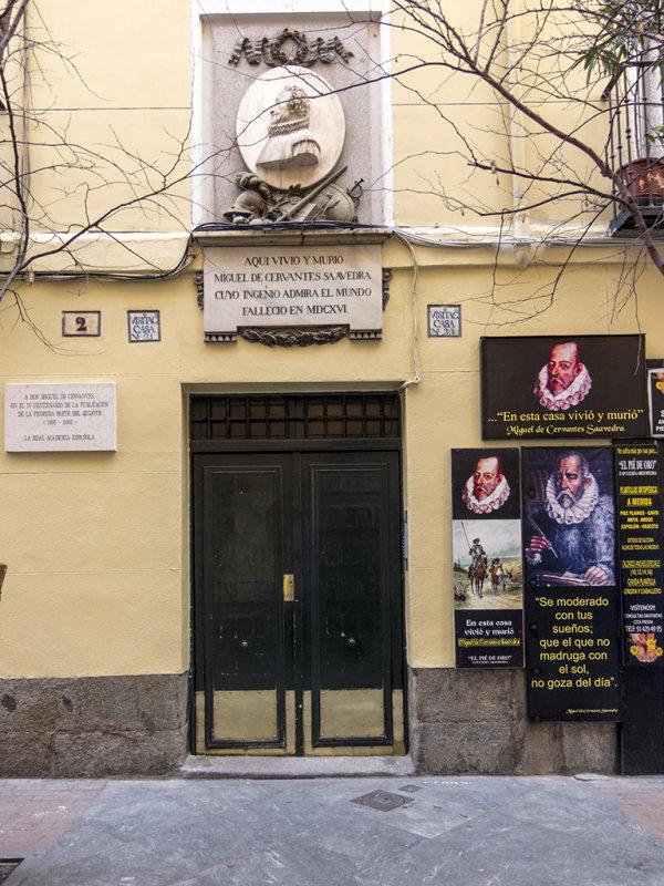 Casa de Miguel de Cervantes en Madrid