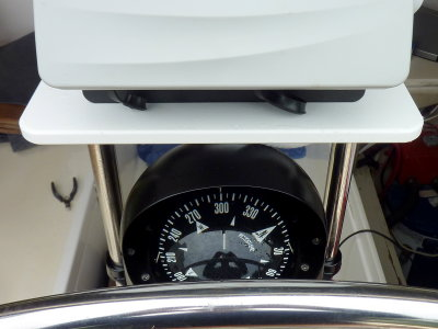 View of Compass From Standing At Helm
