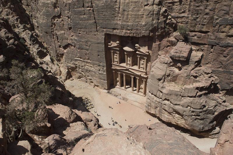 Jordan Petra 2013 2260 The Treasury from high.jpg