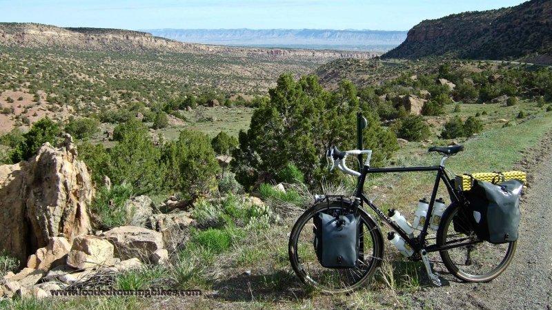 442    Chuck touring Colorado - Coho Wanderer touring bike