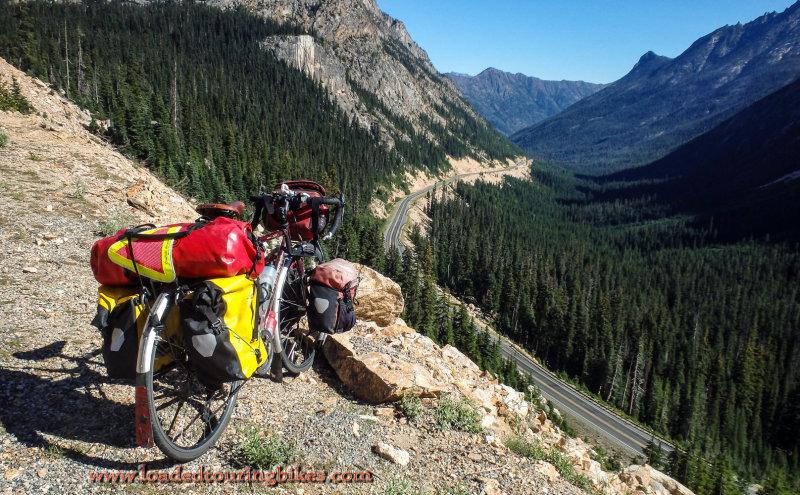 452    Pete touring Washington - Trek 520 touring bike
