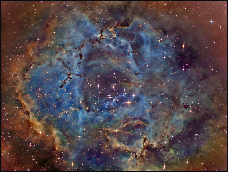 The Rosette nebula - Narrowband
