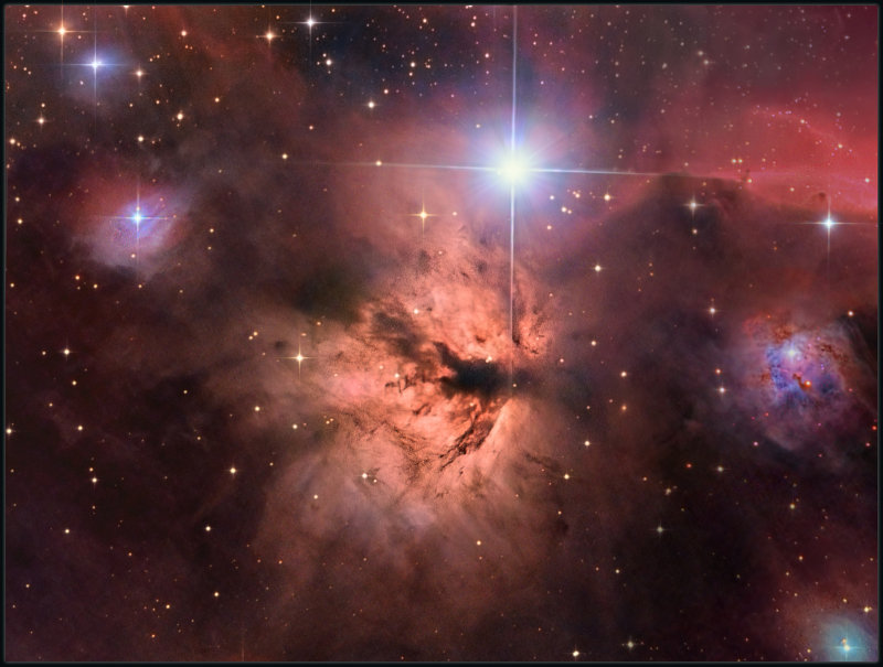 The Flame nebula and friends
