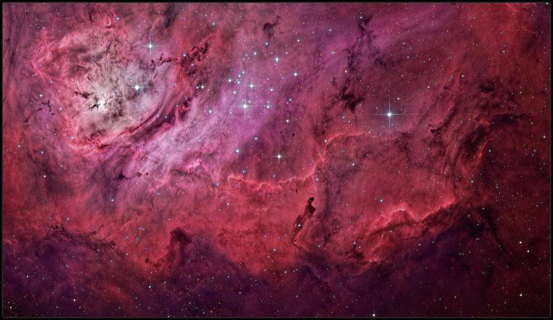 The Globules in the Lagoon nebula