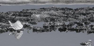 Ice fish...on a still lake.