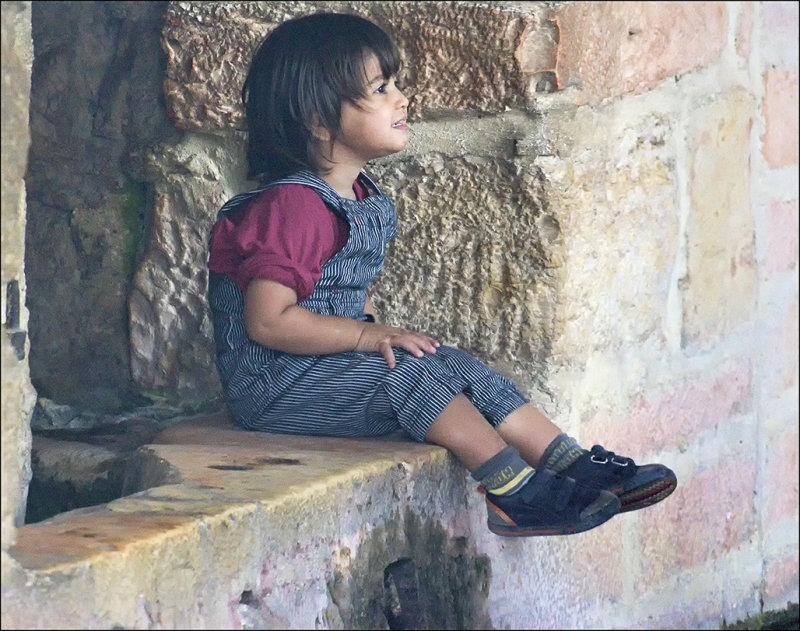 Posing at Marys Well in Ein Kerem Jerusalem