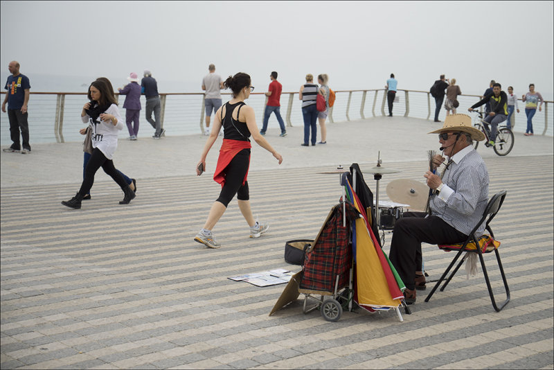 The Busker on Tel Aviv - Jaffa  promenade