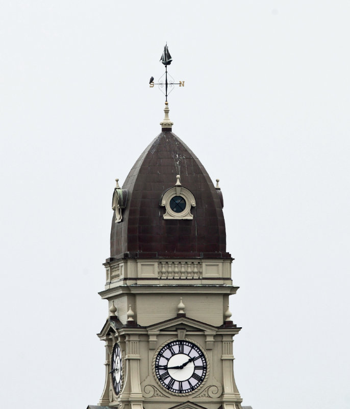 Town Hall weathervane with a Peregrine Falcon