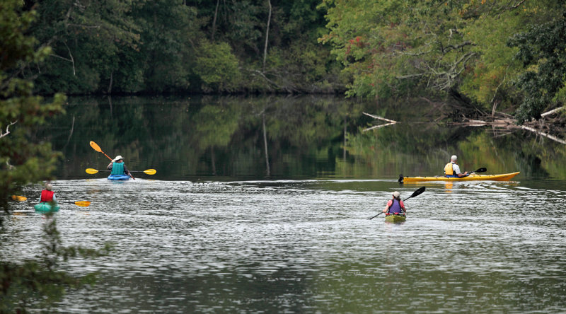 Kayakers on the Nashua River