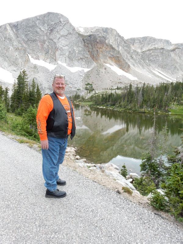 Fat Guy in Orange, Mirror Lake Wyoming