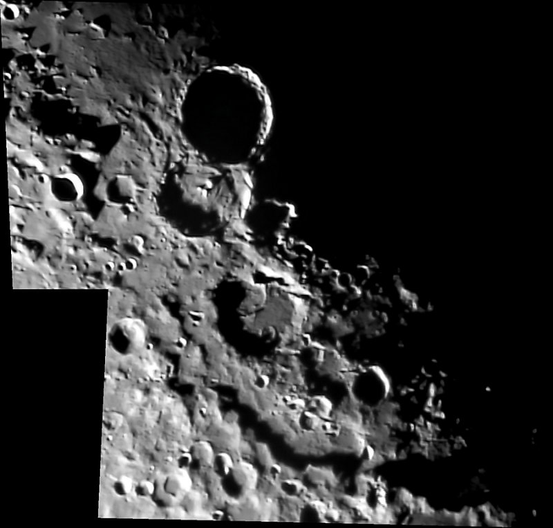 Theophilus-Catharina Craters on the Moon
