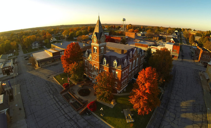 Albany Courthouse Square in Fall