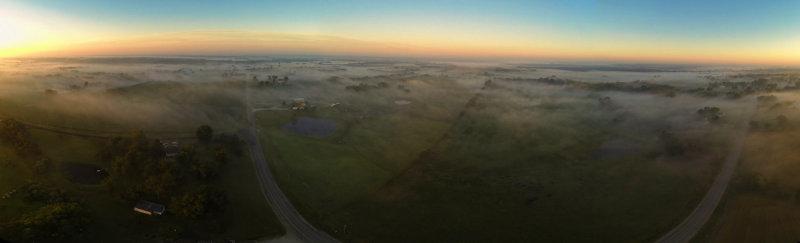 Gentry County Shrouded in Fog