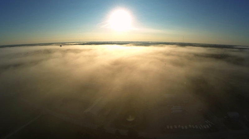Fog over Albany