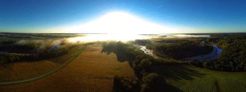 Elam Bend Morning Panorama