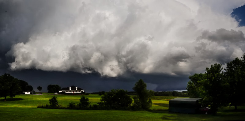 Severe Storm with Wall Cloud