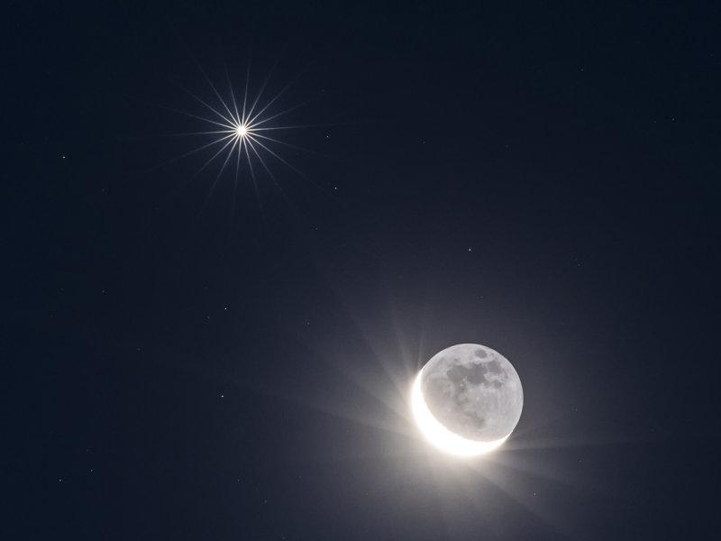 Venus & Crescent Moon