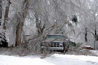 Truck in Ice Storm