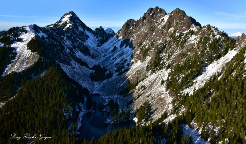 Kaleetan Peak, Melakwa Pass, Chair Peak, Melakwa Lake, Cascade Mountain, WA