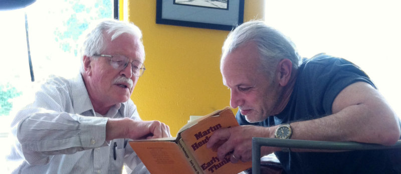 Professors Arthur Dolsen  and Carl Levenson at CoHo