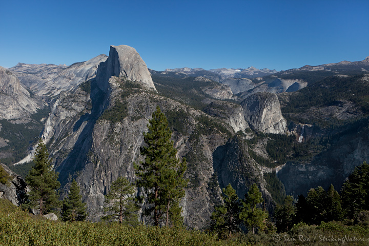 Half Dome, Nevada and Vernal Falls from Glacier Point
