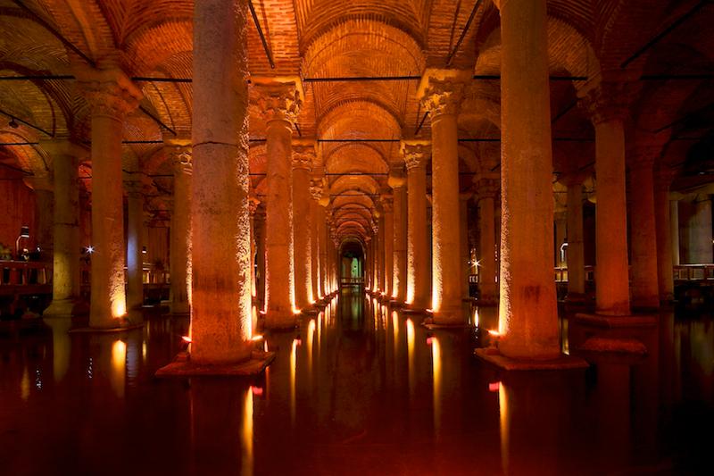 Basilica, Cistern,Yerebatan Sarnıcı Constantinople Istanbul Turkey