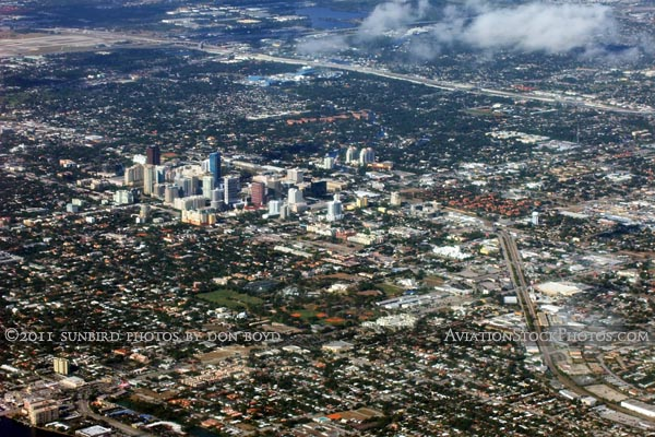 2011 - downtown Ft. Lauderdale landscape aerial stock photo