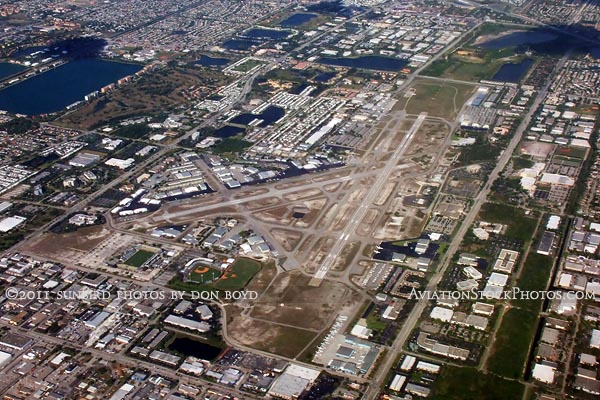 2011 - Ft. Lauderdale Executive Airport landscape aerial stock photo