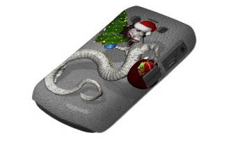 Santa Dragon Blackberry Case Bold Cover