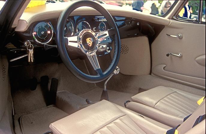 Interior of the Champagne colored car