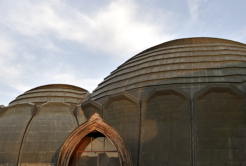 Community center, rear domes