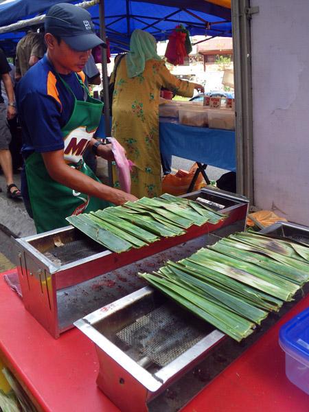 Preparing for Fish Kebab