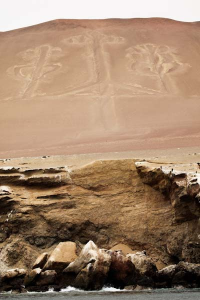 Ancient figure called the candelabra (600 feet long)