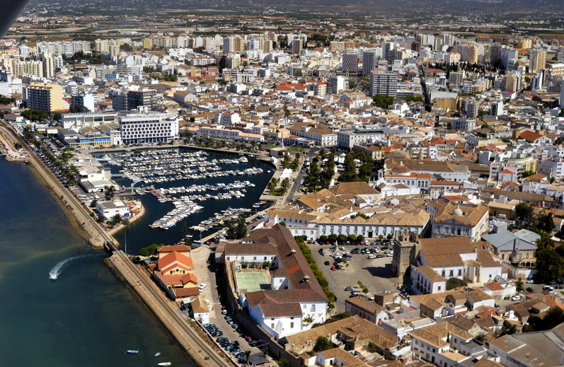 Faro from the Air