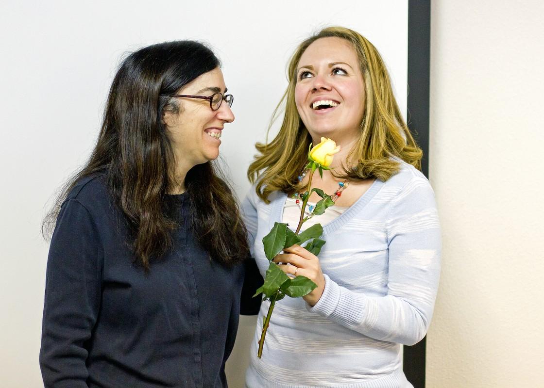 Dr. Brenda Benefit and Marisol Diaz