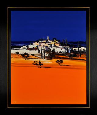 Trozzi - Village in Orange II.jpg