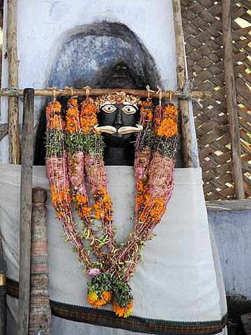 The powerful village God Sudalai. Tirunelveli District, Tamil Nadu.