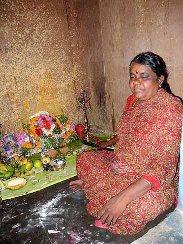 With the help of God Murugan this diviner cures illnesses. Tirunelveli, Tamil Nadu.