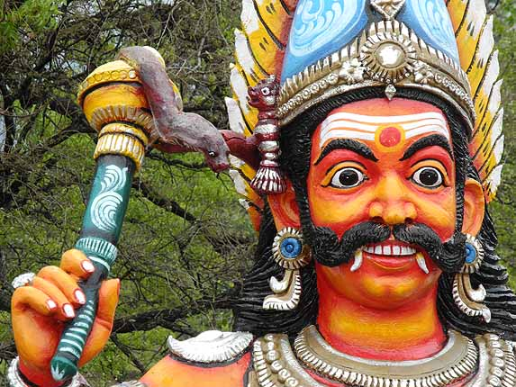 Statue in a Sudalai temple compound. Tamil Nadu, India. http://www.blurb.com/books/3782738