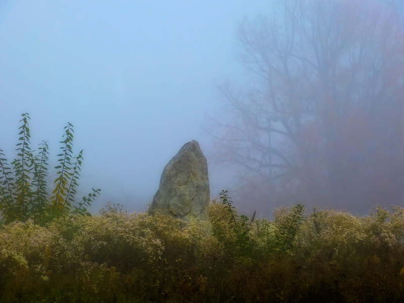 Little misty menhir...