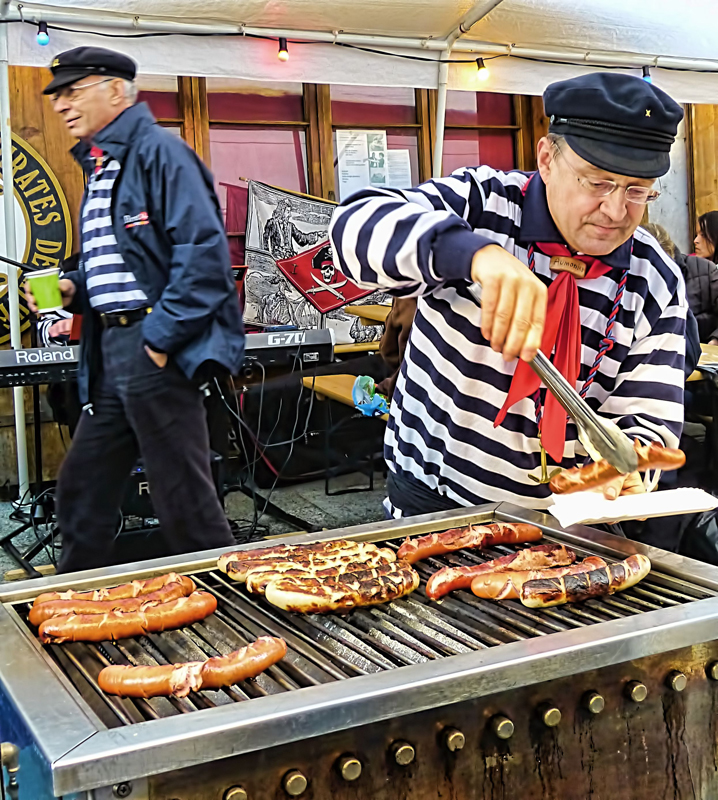 The old pirate who grilled sausages...