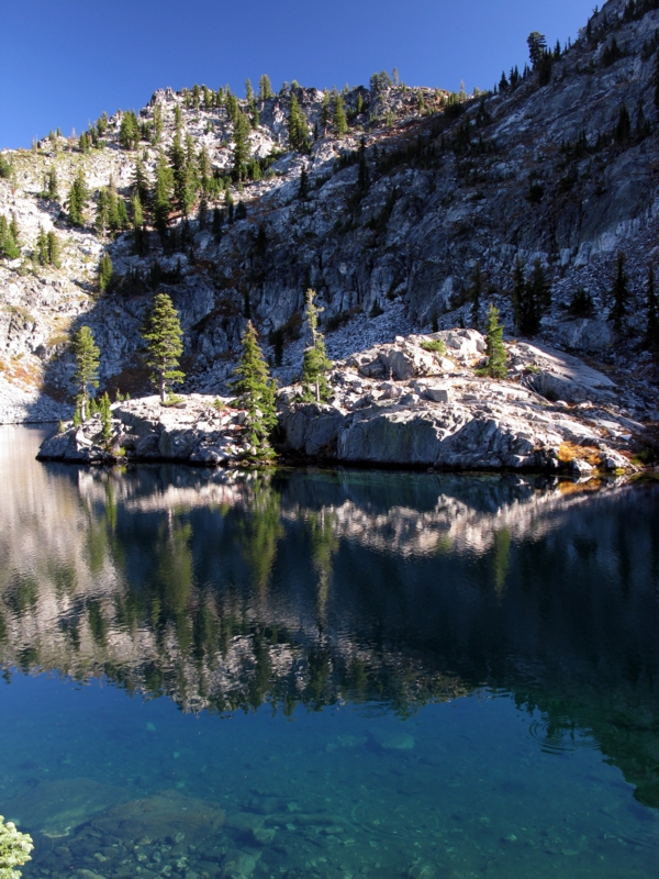 Deep blue Russian Lake