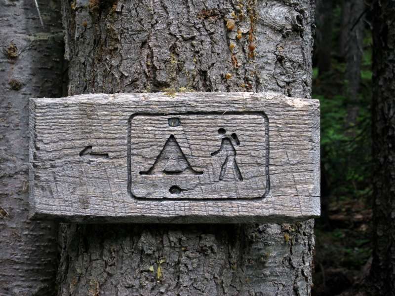 Campsite signs for idiots