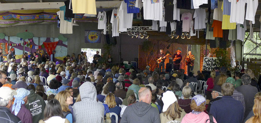 The Cache Valley Drifters always fill Hotlicks with a crowd