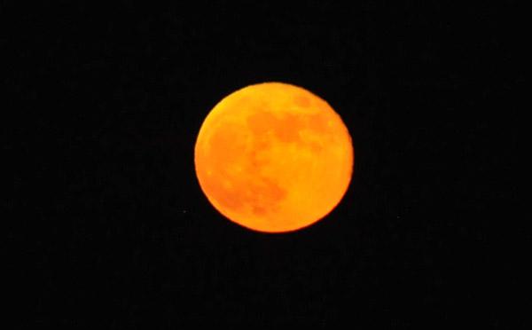 Rise of the full moon, Baku, Azerbaijan